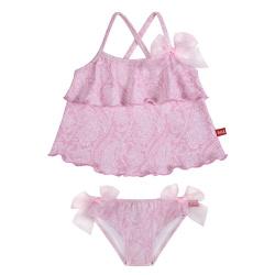 Tankini pink ballerina upf50 avec noeudstulle PETALE