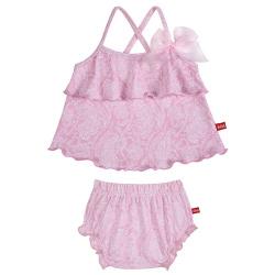 Tankini bebé upf50 pink ballerina con braguita pañal PETALO