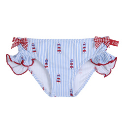 Med riviera upf 50 bikini bottom with small bows BABY BLUE