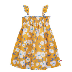 Robe smock sunny summer quick dry MOUTARDE