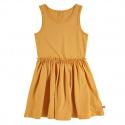 Sleeveless dress with back opening MUSTARD
