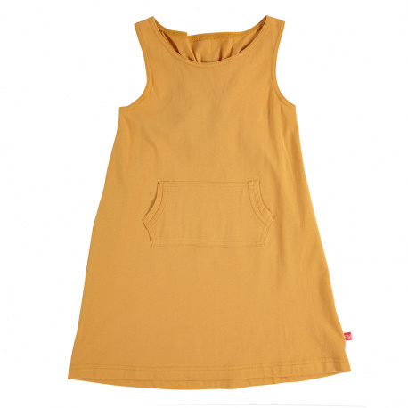 Robe plage avec smock MOUTARDE