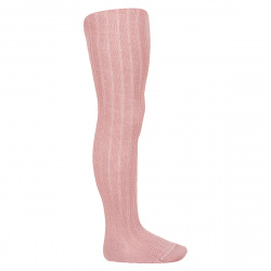 Wool rib tights PINK
