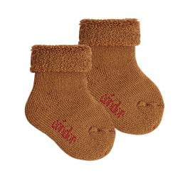 Chausson en laine bordure envers et tissu-éponge OXIDE