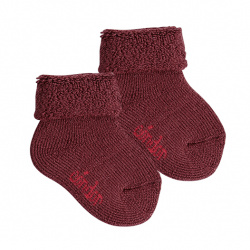 Wool terry short socks with folded cuff GRANET