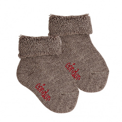 Wool terry short socks with folded cuff TRUNK