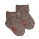Chausson en laine bordure envers et tissu-éponge TRONC