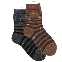 Chaussettes rayures irregulieres