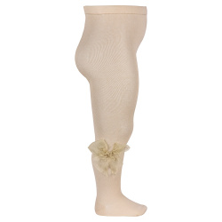 Ceremony tights with organza bow LINEN