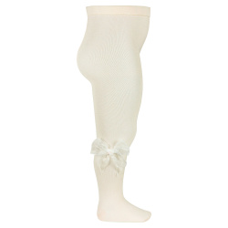 Ceremony tights with organza bow BEIGE