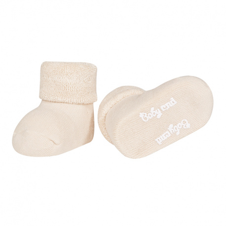 Chausson bébé bordure envers et tissu-éponge LIN