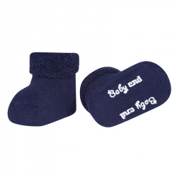Baby cnd terry boots with folded cuff NAVY BLUE