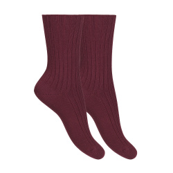 Woman modal rib loose fitting socks