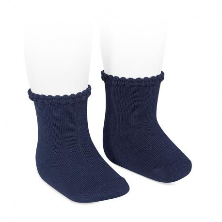 Calcetines puño labrado MARINO