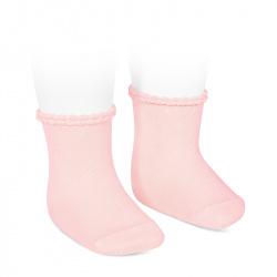 Calcetines puño labrado ROSA