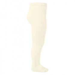 Side patterned tights BEIGE