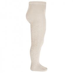 Side patterned tights LINEN