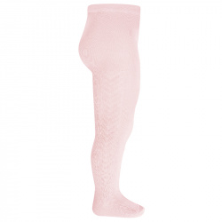 Side patterned tights PINK