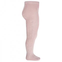 Side patterned tights PALE PINK