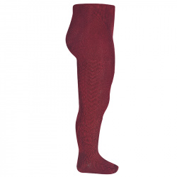 Side patterned tights BURGUNDY