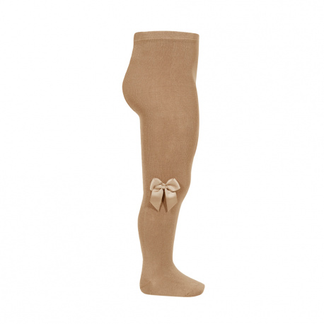 Tights with side grossgran bow CAMEL