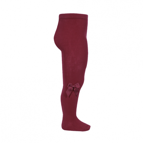Tights with side grossgran bow GARNET