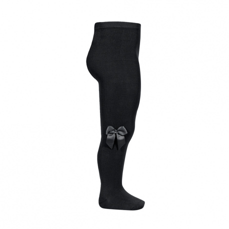 Tights with side grossgran bow BLACK