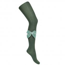 Side velvet bow tights AMAZONIA