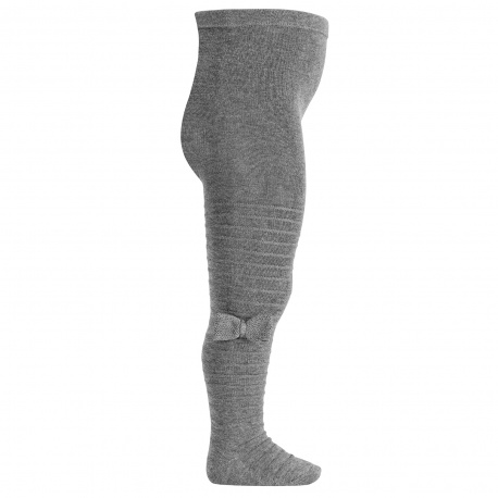 Tights with knitted bow LIGHT GREY