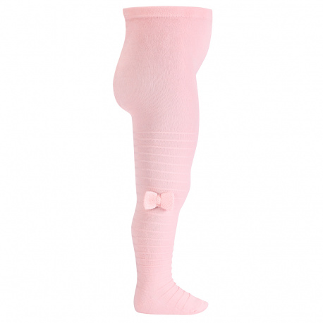 Tights with knitted bow PINK