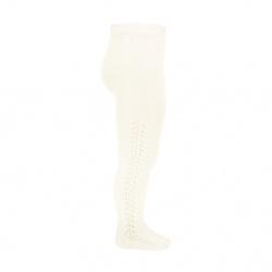 Side openwork warm tights BEIGE