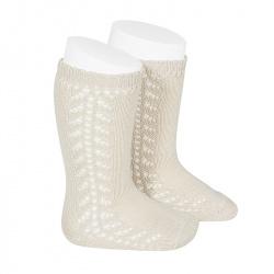 Chaussettes hautes chaudes ajourée lateral LIN