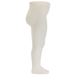 Collants en crochet coton chaud CREME
