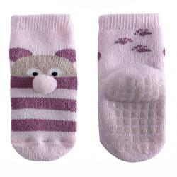 Teddy non-slip short socks PINK