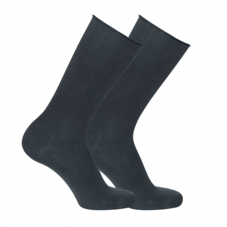 Men cotton loose fitting socks with rolled cuff