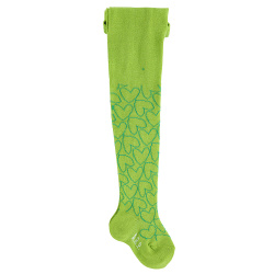 Baby outlined hearts tights GREEN