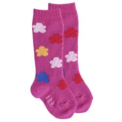 Chaussettes hautes nuages en couleurs BUGAINVILLE