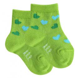 Baby hearts socks GREEN
