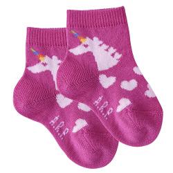 Baby unicorn short socks BUGAMBILIA
