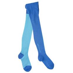 Kids basic bicolour tights ELECTRIC BLUE