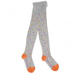 Kids coloured polka dots tights
