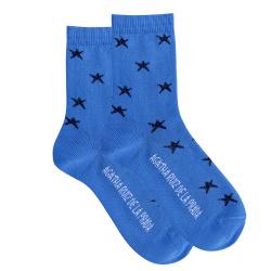 Chaussettes étoiles brillantes GROS BLEU