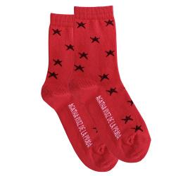 Chaussettes étoiles brillantes ROUGE