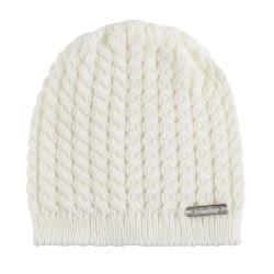 Baby knit hat with braids CREAM