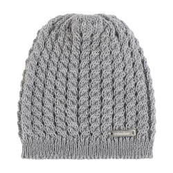 Baby knit hat with braids ALUMINIUM
