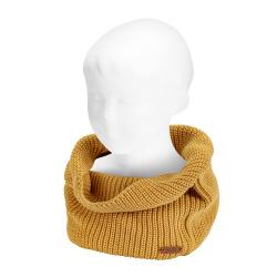 English rib stitch tube scarf MUSTARD