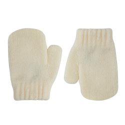 Classic one-finger mittens BEIGE