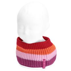 Baby pearly stitch multicolour snood-scarf BUGAMBILIA
