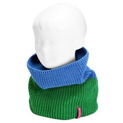 English stitch bicolour snood-scarf TURQUOISE