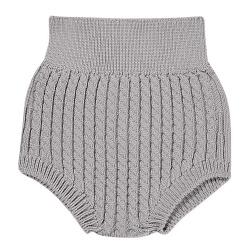 Aran stitch culotte ALUMINIUM
